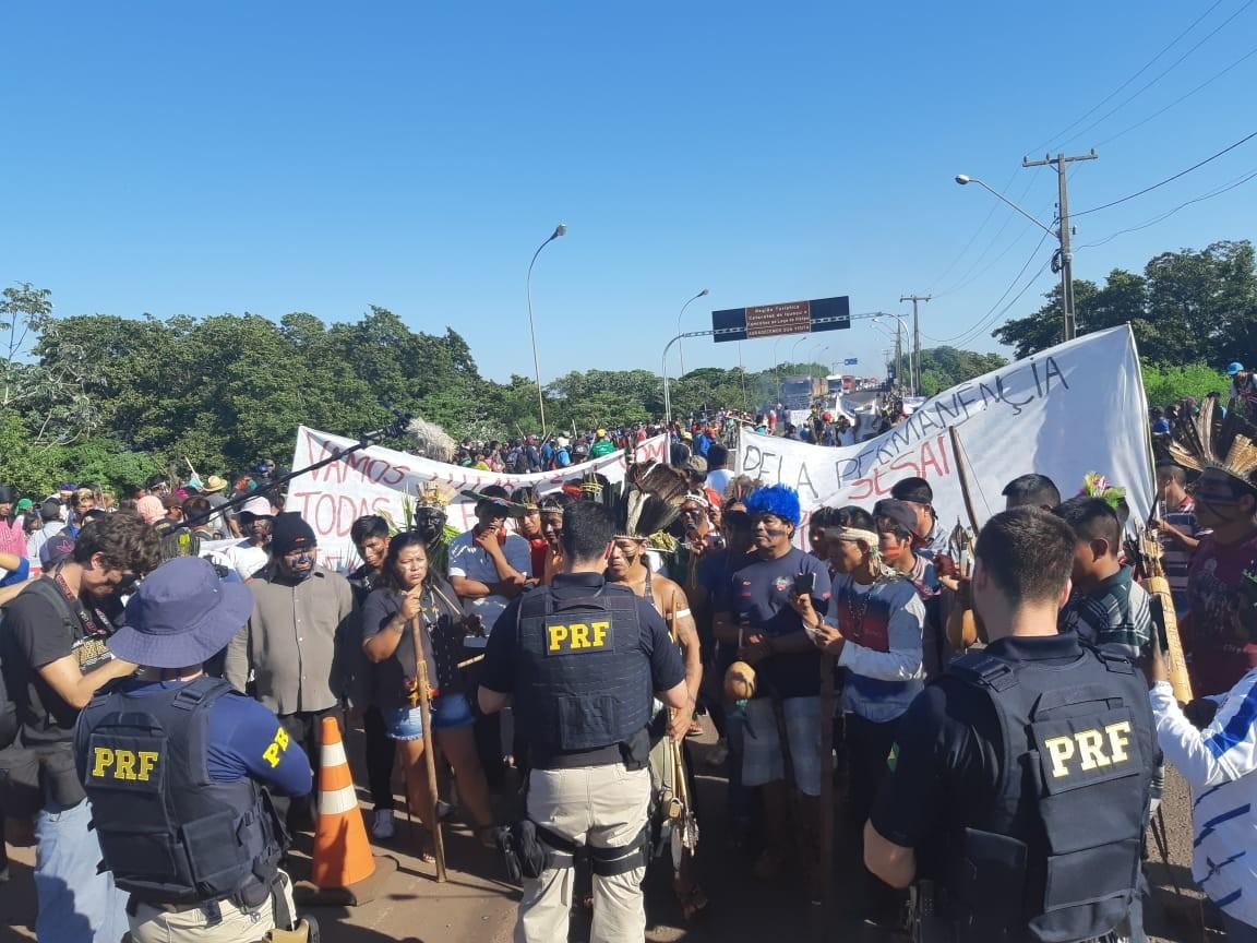 PRF informa que BR-163 em Guaíra foi liberada
