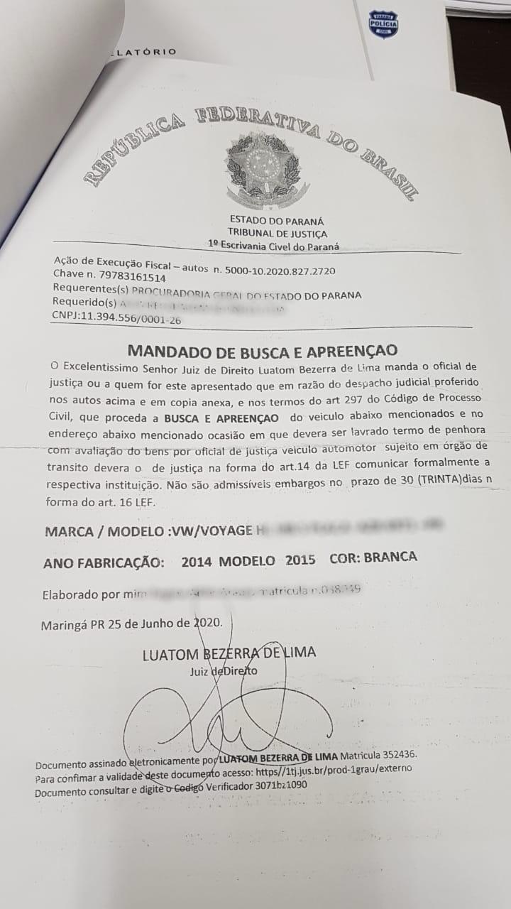 """O golpista escreveu apreensão com """"ç"""" e o erro chamou a atenção da mulher – Foto: Divulgação Polícia Civil"""