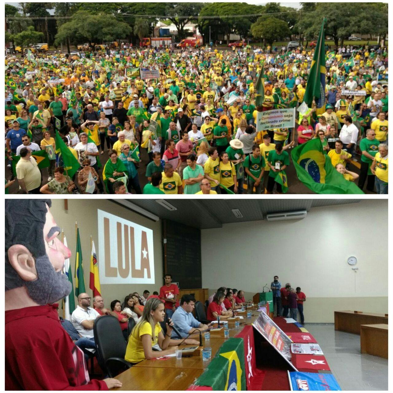 Manifestações em Maringá chegam ao fim