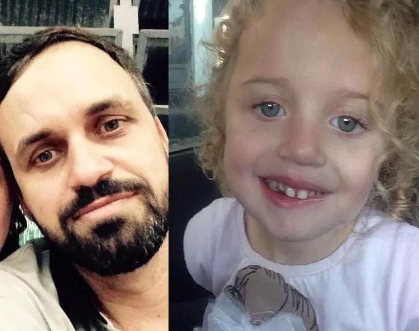 Adalberto Fernandes, de 42 anos, e a filha Sophia, de 4 anos, estão sendo velados em Maringá (Fotos: Reprodução Facebook)