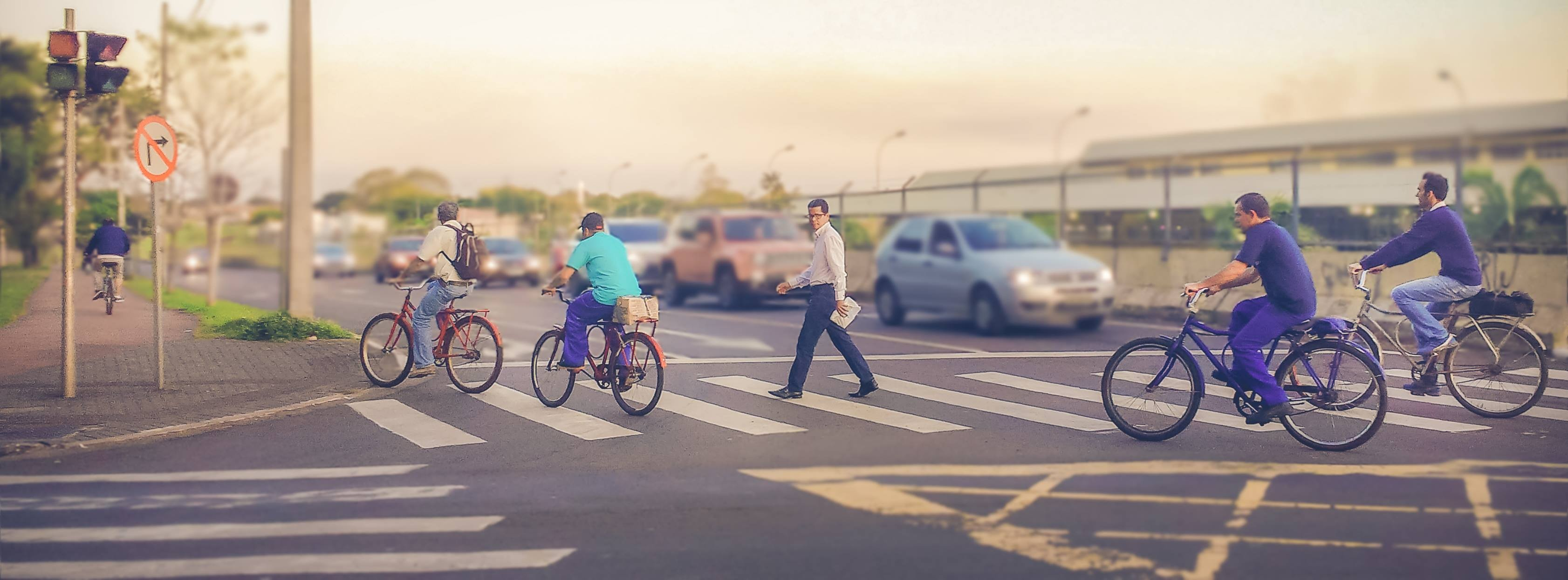Uso da bicicleta contamina