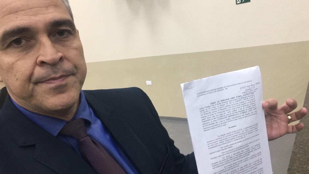 Vereador denuncia obra do Contorno Sul ao Ministério Público