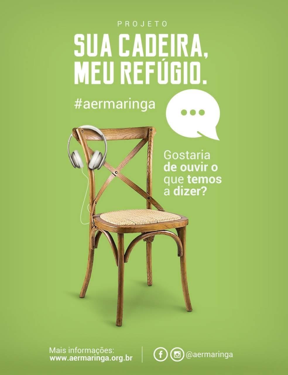 Cadeira em que se ouve relato de refugiados é uma das ações para marcar a data
