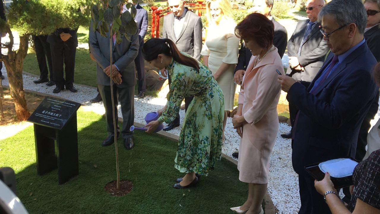 Princesa Mako regou ipê branco e agradeceu o povo brasileiro