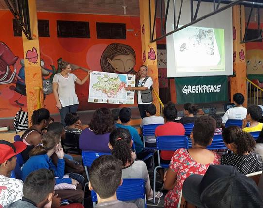 Saiba mais sobre o Projeto Escola do Greenpeace