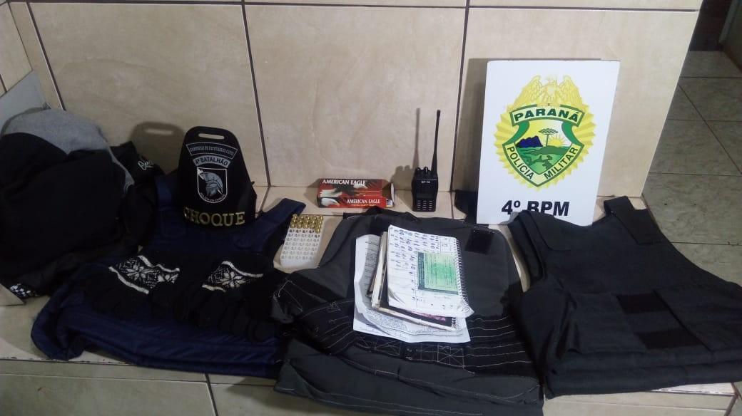 Polícia apreende munições e coletes balísticos