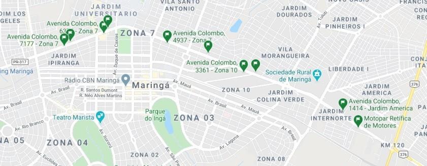 GMC Online marcou no Google Maps os locais exatos onde serão instalados os 10 radares - Foto: Reprodução Google Maps