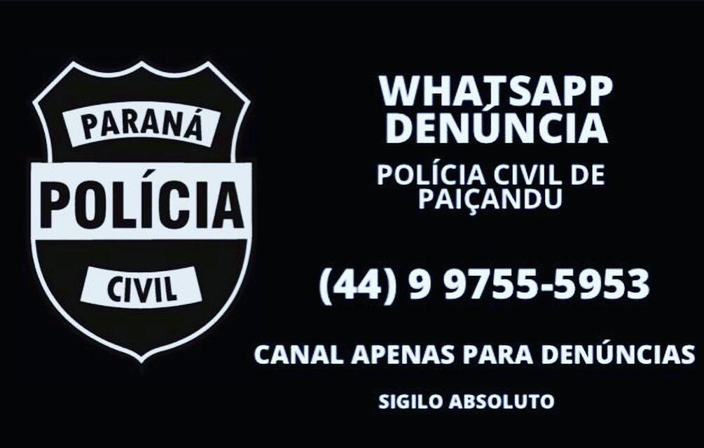 Polícia de Paiçandu também tem WhatsApp denúncia