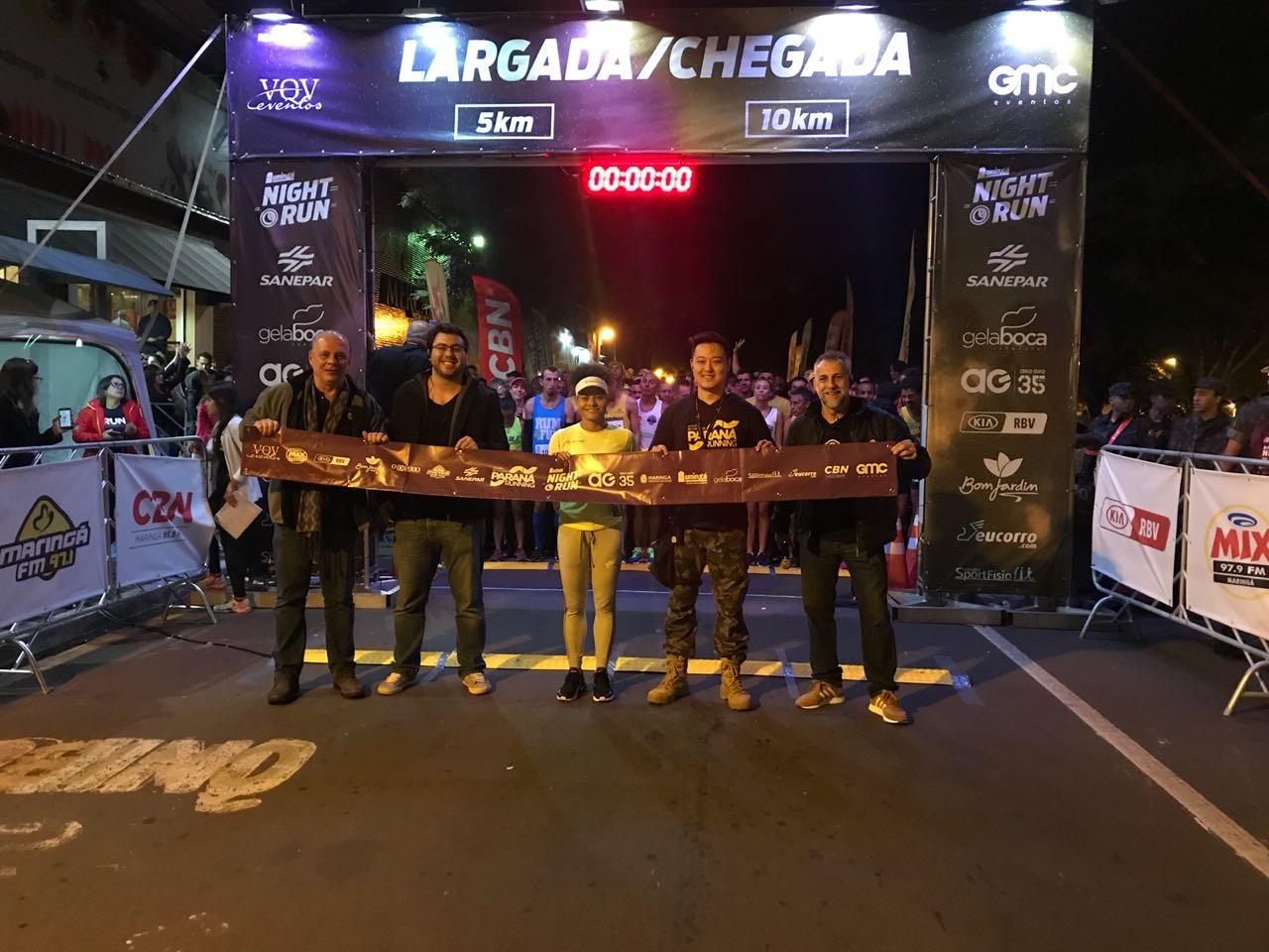 Prova Night Run do Circuito Paraná Running foi um sucesso