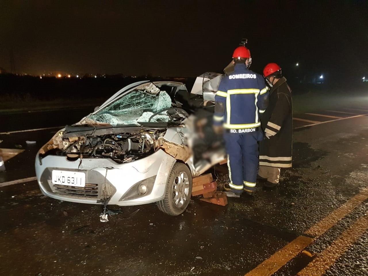 Homem morre em acidente na br-158 e motorista foge sem prestar socorro