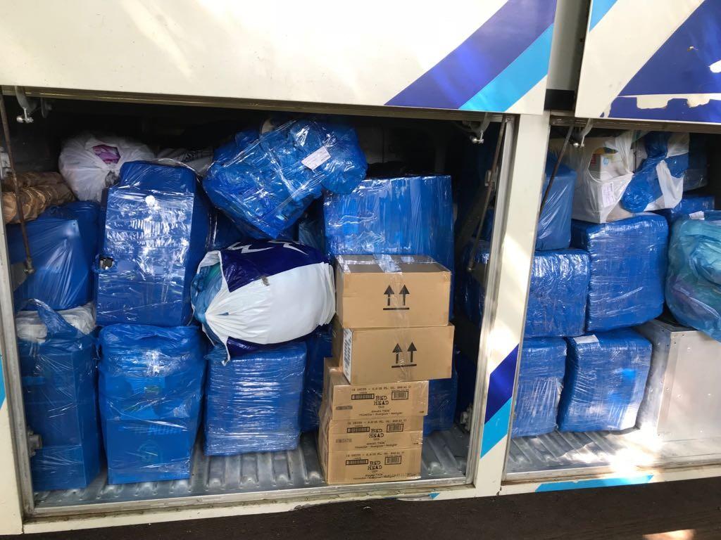 PRF apreende ônibus com mercadorias do Paraguai
