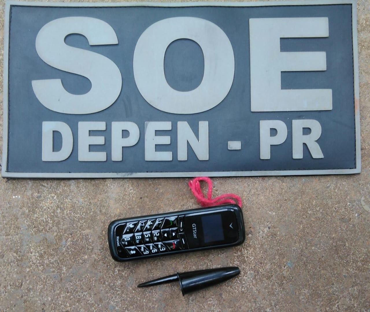 Minicelular de 7 cm é encontrado na Casa de Custódia de Maringá