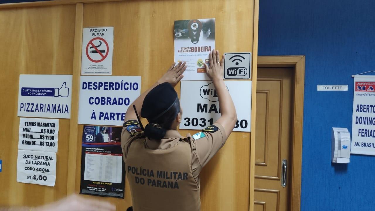 Polícia Militar realiza campanha de prevenção de furtos em veículos