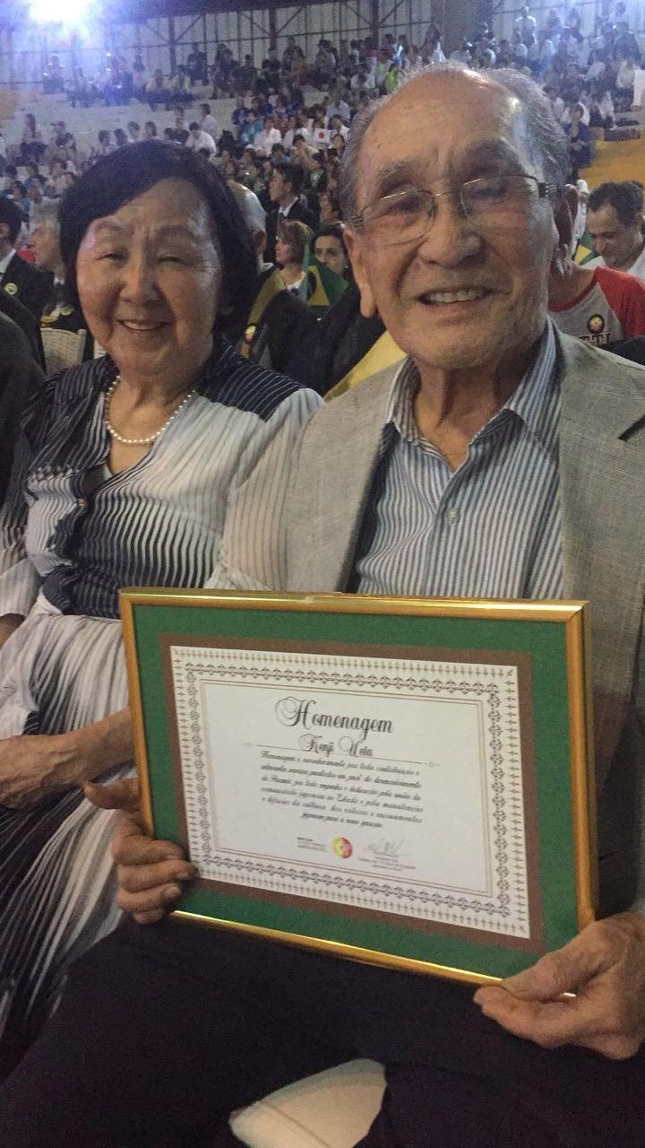 O pioneiro Kenji Ueta foi uma dos homenageados