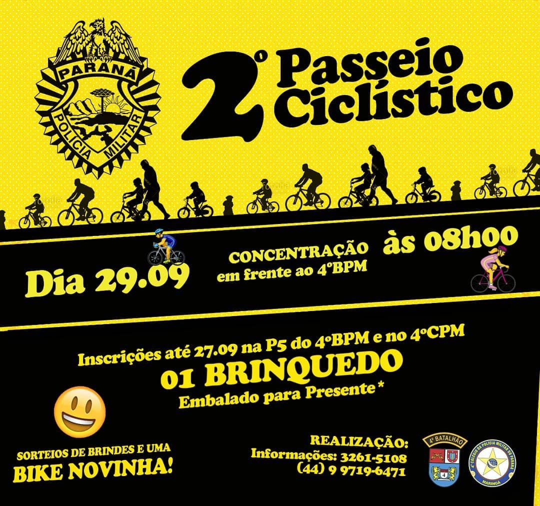 PM promove 2º Passeio Ciclístico em Maringá