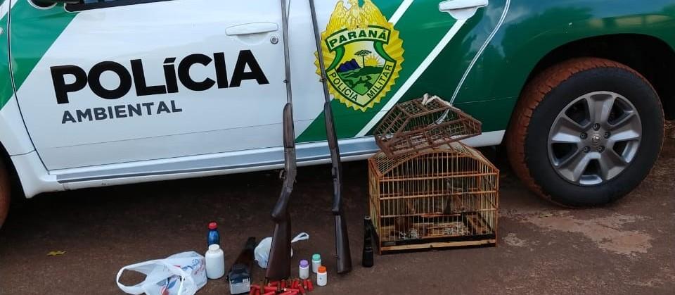 Polícia apreende armas de caça e carne de animal abatido em residência