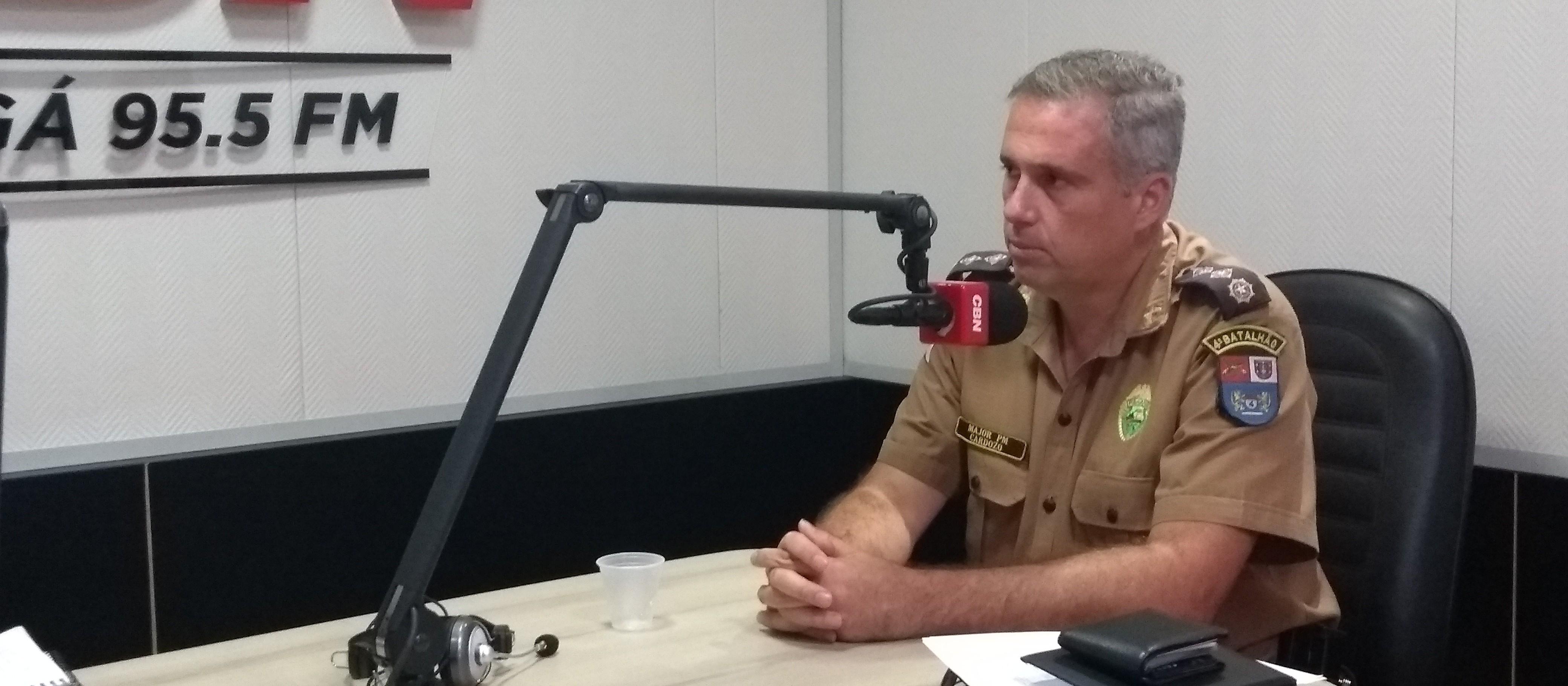 PM fará abordagens com bafômetro, em Maringá