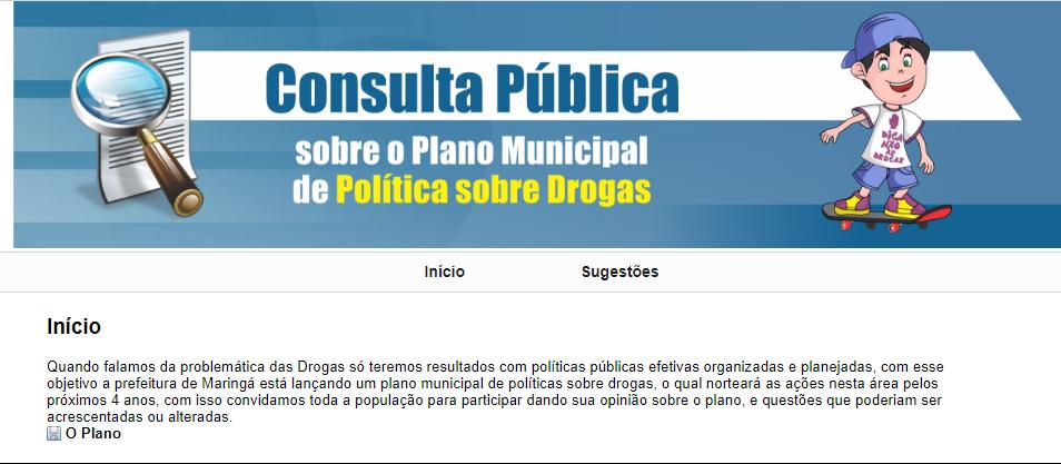 Consulta pública do plano de política sobre drogas encerra dia 24