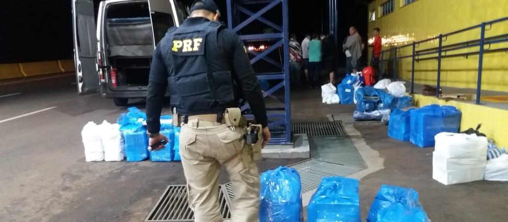PRF apreende mercadorias contrabandeada do Paraguai