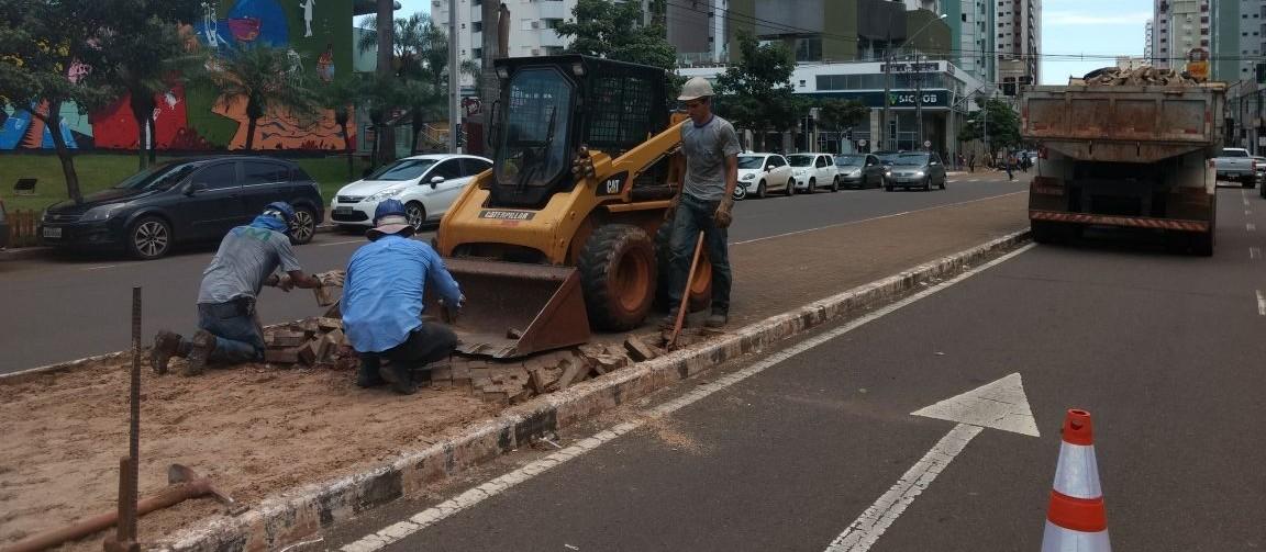 Começa a implantação de ciclovia na Avenida Horácio Racanello