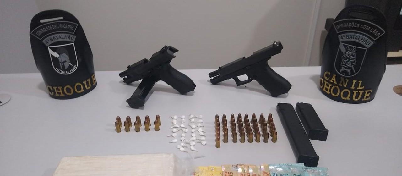 Quatro pessoas são presas com armas e munição em Sarandi
