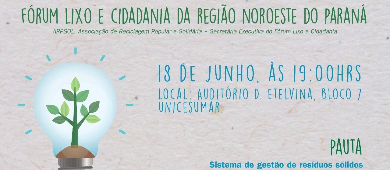 Fórum recebe gestor de Maringá na próxima reunião