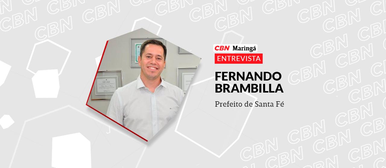 Fernando Brambilla (MDB) prefeito reeleito de Santa Fé pretende construir um parque industrial