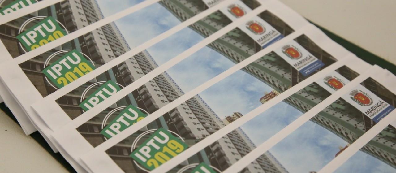 Expectativa do IPTU 2019 é de R$ 180 milhões em Maringá