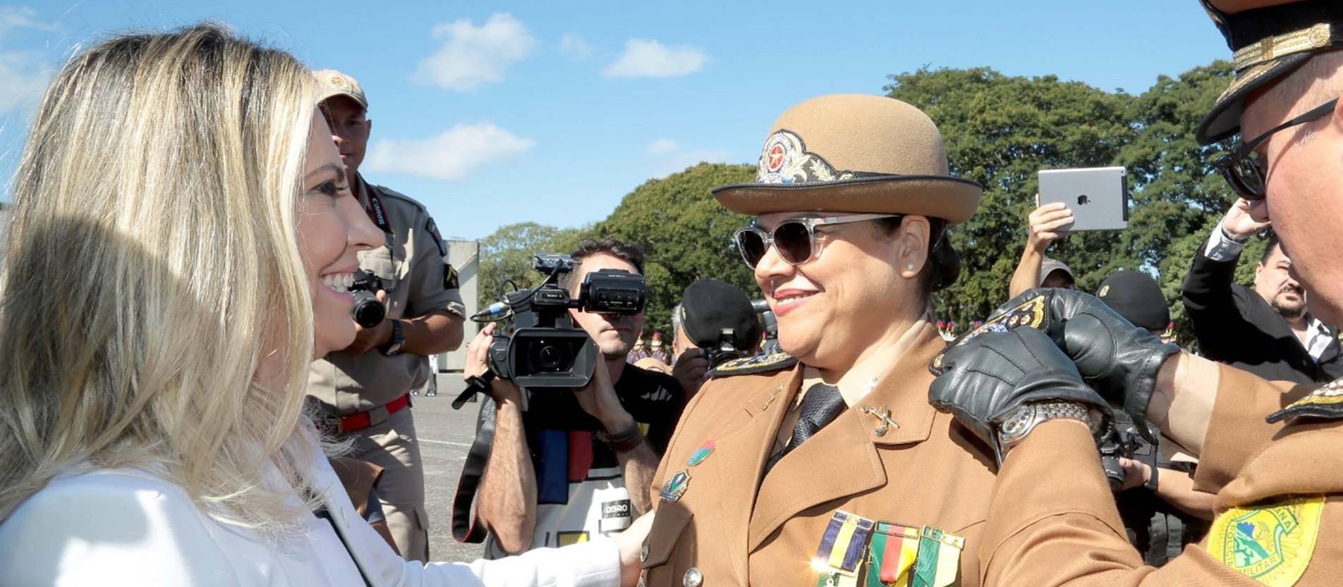 """""""A PM tem agregado o conhecimento da mulher"""", diz coronel Audilene Dias"""