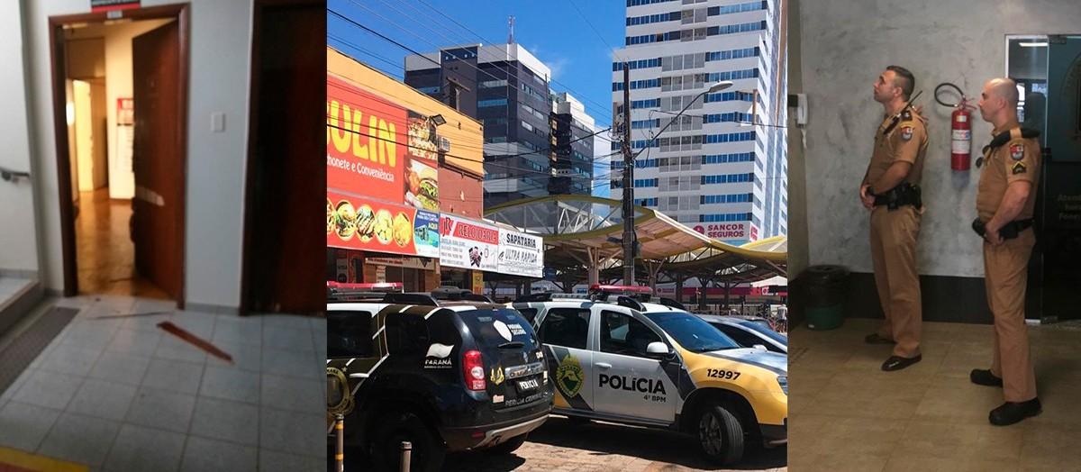 Ladrões invadem 14 salas de prédio no centro de Maringá