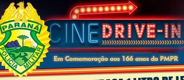 PM celebra aniversário com cinema drive-in em Maringá