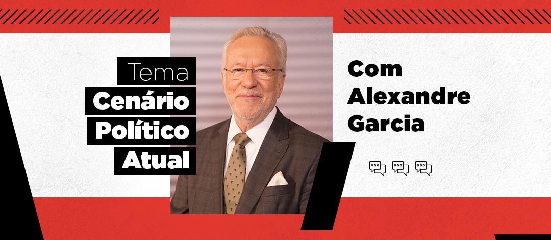 CBN Talks recebe o jornalista Alexandre Garcia nessa quarta (28); inscrição é gratuita