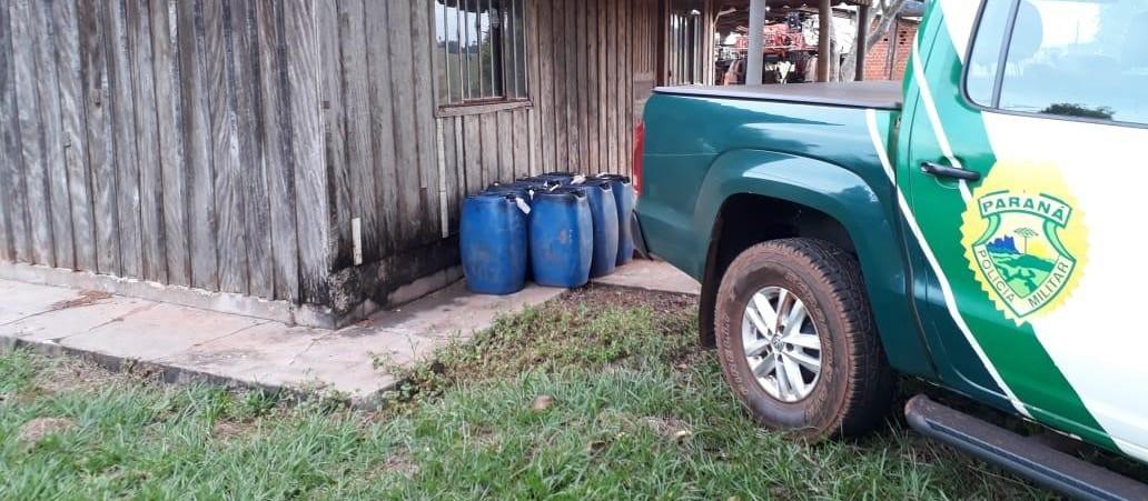 Polícia Ambiental apreende gasolina do Paraguai sendo vendida clandestinamente
