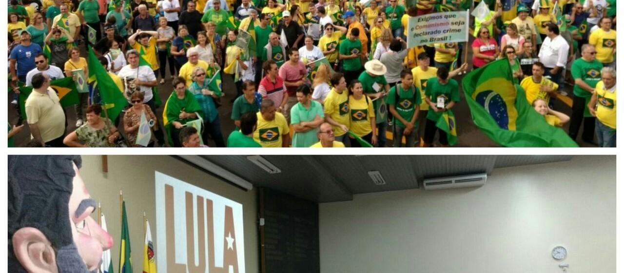 Maringá tem atos contra e a favor de Lula