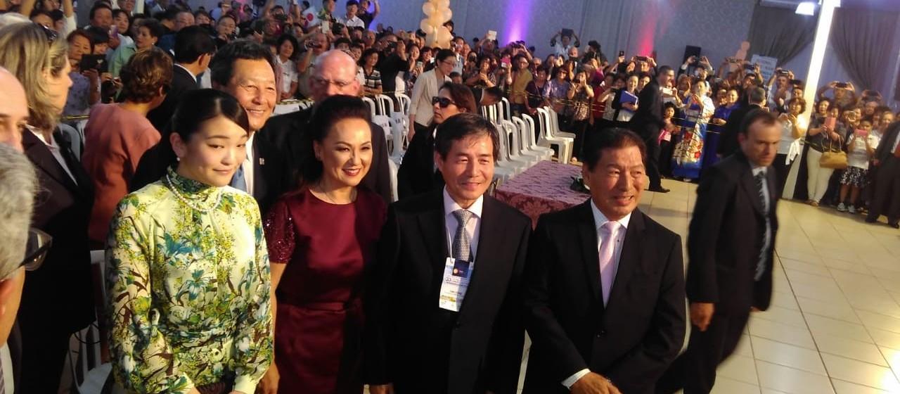 Princesa do Japão visita Parque de Exposições de Maringá