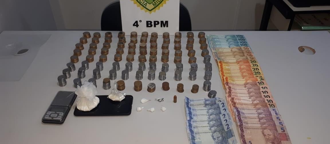 Homem é preso com cocaína e munição em Sarandi