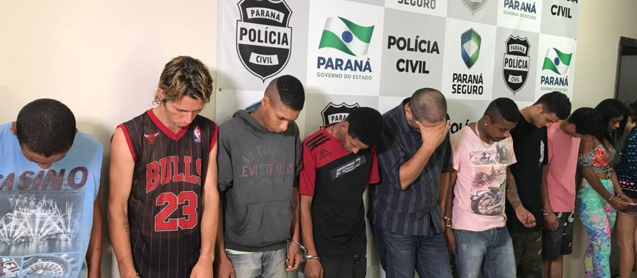Nove suspeitos são presos por depredar delegacia de Umuarama