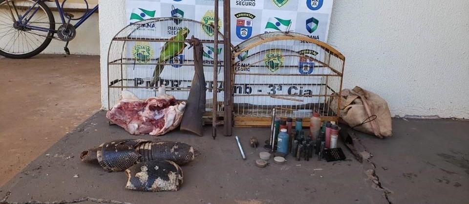 """PM Ambiental """"fecha o cerco"""" contra caçadores de animais silvestres"""