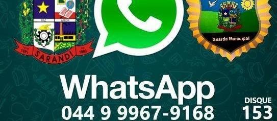 Denúncias podem ser feitas pelo WhatsApp da Guarda Municipal