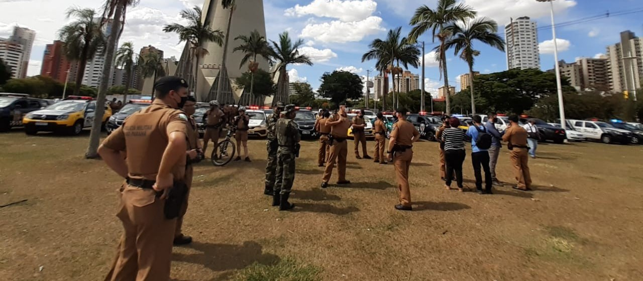 Com muitos policiais nas ruas, PM lança a operação Sinergia em Maringá