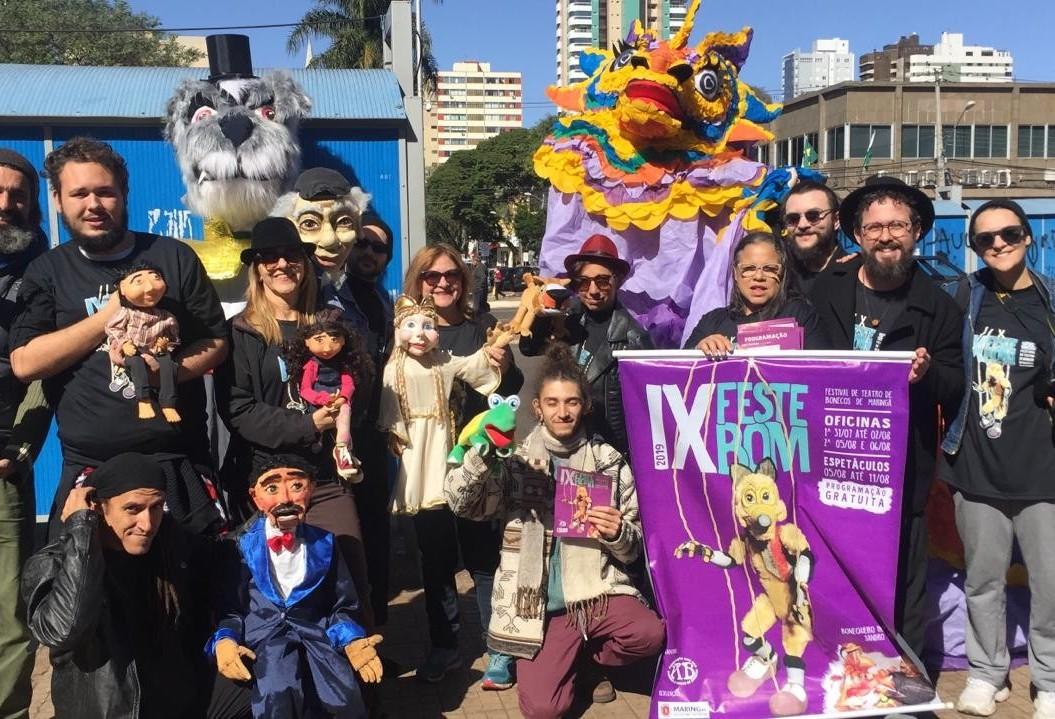 Festival de Teatro de Bonecos traz 17 espetáculos para Maringá