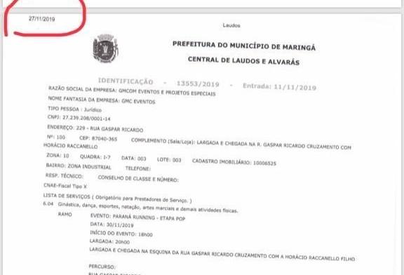 Após publicar informação mentirosa, Prefeitura de Maringá apaga post