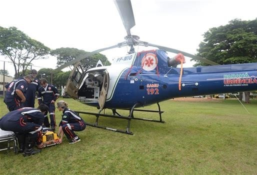 Samu aeromédico completou 1.051 atendimentos