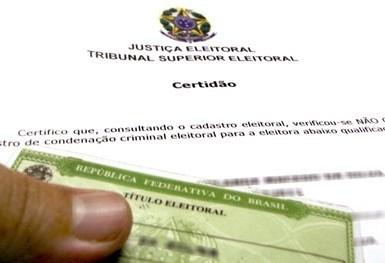 Certidão de quitação eleitoral está liberada