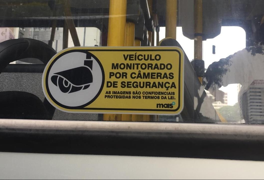 Ônibus estão com câmeras de monitoramento funcionando em Maringá
