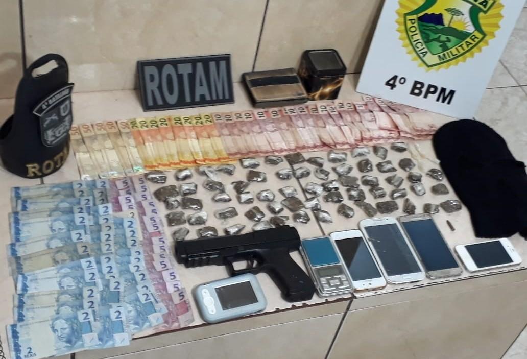 Três são presos por tráfico de drogas em Maringá