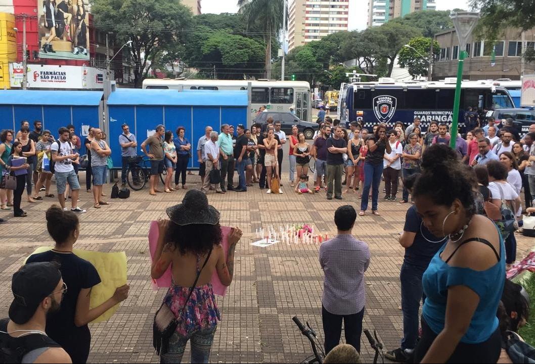 Ato em memória de vereadora assassinada no Rio de Janeiro é realizado Maringá