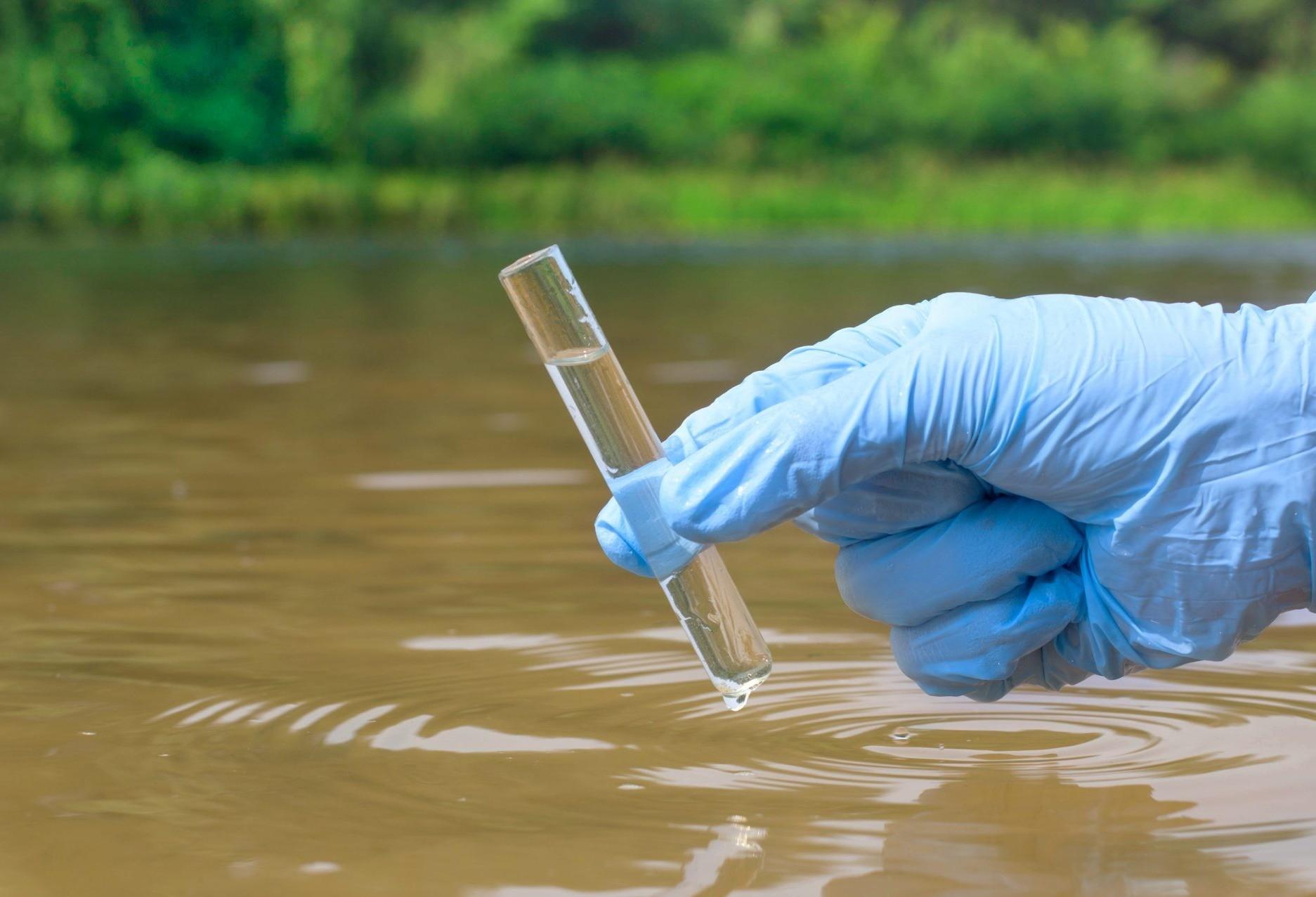 Fiscais da Sema coletam água do Córrego Mandacaru para análise