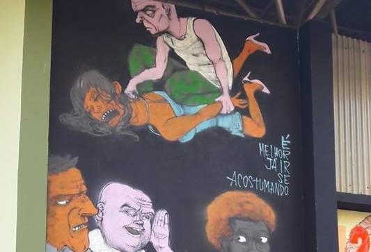 Grafite é apagado após pedido da Prefeitura de Maringá