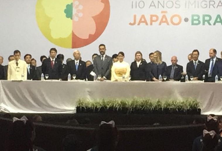 Pioneiros japoneses são homenageados durante abertura da Expo Imin 110 anos